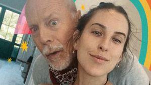 Selten! Daddy Bruce Willis zeigt sich mit seinen Töchtern