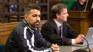Bushido im Gerichtssaal im Jahr 2014
