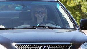 Calista Flockhart: Strahlender Besuch bei Harrison