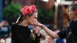Model Cara Delevingne auf dem Laufsteg in Paris