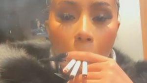 Wahl-Aufregung: Cardi B raucht drei Zigaretten gleichzeitig
