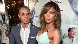 Casper Smart und Jennifer Lopez bei einer Premiere in Hollywood