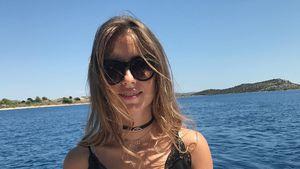 Bootstour mit Babybauch: Cathy Hummels genießt die Sonne