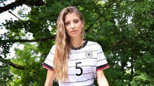 Nach UEFA-Fail: Cathy Hummels mit Regenbogen im Stadion