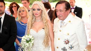 Cathy und Richard Lugner bei ihrer Verlobungsfeier im August 2014