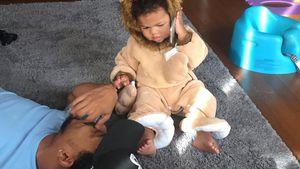 1. Aufnahmen: Chance The Rapper zeigt süße Tochter Kensli!