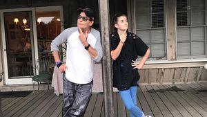 So cool wie Daddy? Charlie Sheen posiert lässig mit Tochter!