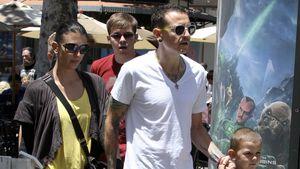 Chester Bennington mit seiner Familie in Los Angeles