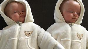 Christian Tews' Zwillinge sind warm eingepackt