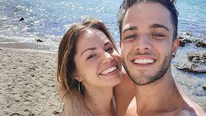 So verliebt turteln Christina Luft und Luca Hänni im Urlaub