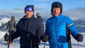 Coolstes Ski-Duo: Arnold Schwarzenegger und Clint Eastwood