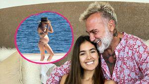 Kugelrund! Gianluca Vacchis Freundin beim Sonnenbaden