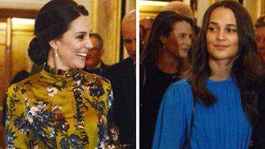 Große Ehre: Alicia Vikander trifft Herzogin Kate in Schweden