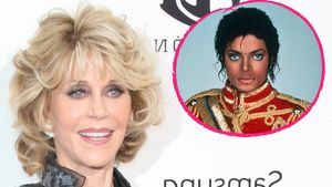 Michael Jackson und Jane Fonda