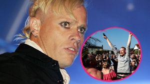 Keith Flints Beerdigung war bunt: Punk-Fans ließen's krachen