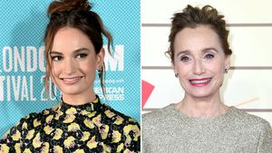 Lily James hatte Angst vor Co-Star Kristin Scott Thomas