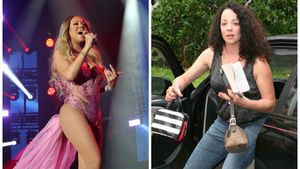 Sängerin Mariah Carey und ihre Schwester Alison