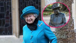 Trotz Krisenstimmung: Die Queen scherzt über eigene Statue