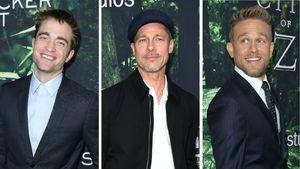 Robert Pattinson, Brad Pitt & Charlie Hunnam auf einer Filmpremiere