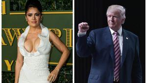 Schauspielerin Salma Hayek und Unternehmer Donald Trump