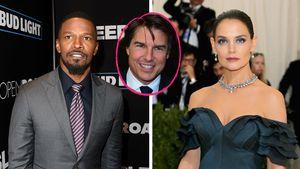 Collage von Jamie Foxx, Tom Cruise und Katie Holmes