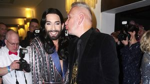 """Conchita Wurst und Jean Paul Gaultier bei der Premiere """"The ONE"""" im Friedrichstadtpalast"""