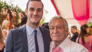 Cooper Hefner und Hugh Hefner beim Playmate of the Year Lunch 2013