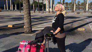 Daniela Katzenberger am Flughafen von Mallorca