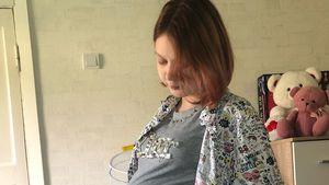 Neues Ultraschallbild von schwangerer Russin Darya (14)