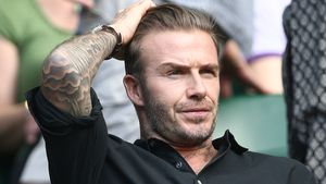 David Beckham in Wimbledon