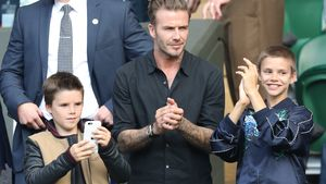 Süße Edelfans: David Beckham mit Cruz & Romeo in Wimbledon!