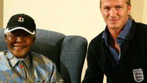 David Beckham und Nelson Mandela