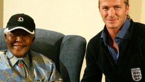 Emotional: David Beckham gedenkt Nelson Mandela