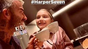 Süß! David Beckham und Tochter Harper haben ein Abendritual