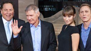 Daniel Craig, Olivia Wilde und Harrison Ford