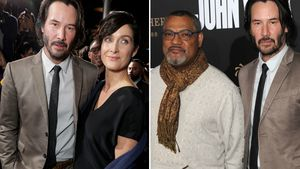 "Keanu Reeves, Carrie-Anne Moss und Laurence Fishburne auf der ""John Wick: Chapter 2"" Premiere 2017"