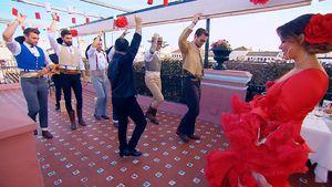 """""""Die Bachelorette""""-Kandidaten beim Flamenco-Unterricht"""