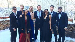 Kevin McHale, Jane Lynch und Lea Michele mit Gästen auf der Hochzeit von Becca Tobin, Dezember 2016