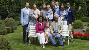 Die schwedische Königsfamilie auf Schloss Solliden