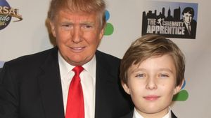 Donald Trump mit Sohn Barron Trump bei Event im Trump Tower