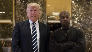 Donald Trump und Kanye West in der Lobby des Trump Towers in New York