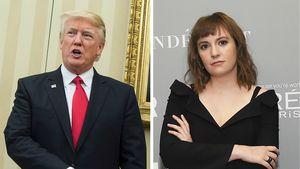 Donald Trump und Lena Dunham