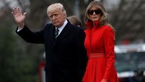 Donald und Melania Trump am Weißen Haus