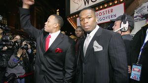 Dr. Dre und 50 Cent bei der Shady National Convention in New York 2004