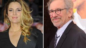 Drew Barrymore und Steven Spielberg