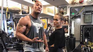 Dwayne Johnson und J.Lo im Fitnessstudio