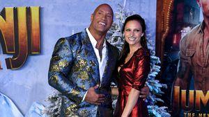 The Rock und Frau Lauren ziemlich weihnachtlich auf Premiere