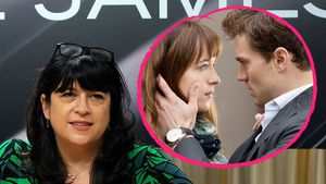 E. L. James mit Dakota Johnson und Jamie Dornan