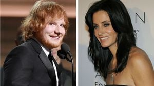 Ed Sheeran und Courteney Cox