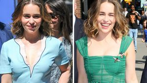 1x spießig, 1x sexy: Emilia Clarke als süßes Mode-Chamäleon